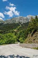 Road (Thomaskont) Tags: trees sky mountain nature clouds forest landscape nikon outdoor hill greece mountainside d5200
