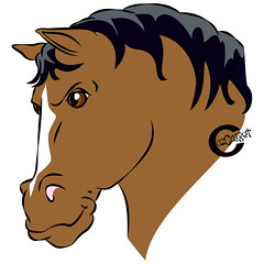 "Smug bay ""Disney"" horse (cazcarrot) Tags: horse art bay comic cartoon disney pony illustrator vector equine affinitydesigner"