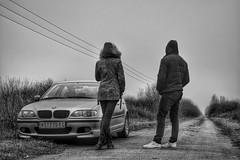 DSC_0068-01 (nanchilo) Tags: driving road car bmw endless pair two people monochrome monoart blackandwhite bnw hdr nikon nikond3100