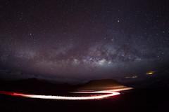 Milky Way Over Haleakala (melfoody) Tags: milkyway stars starscape night nightsky lighttrails longexposure ultrawideangle melfoody canon rokinon 12mm hawaii maui volcano mountain 10000ft altitude nationalpark haleakalanationalpark