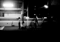 PHALANX (Dinasty_Oomae) Tags: blackandwhite bw monochrome station blackwhite kodak outdoor platform railway jr chiba retinette nagareyama        musashinoline  minaminagareyama