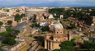 Foro y Coliseo (reconstruido), Roma / Roman Forum and Colosseum reconstructed
