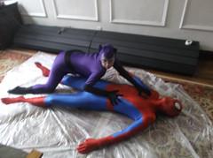 my adventures as Spiderman (jayphelps) Tags: costume cosplay spiderman tights superhero spandex peril unitard