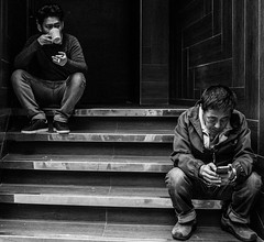(Kunotoro) Tags: china street city people urban bw streets male monochrome asian photography hongkong blackwhite asia central chinese streetphotography streetlife soe bnw asiapeople stphotographia streetpassionaward blackwhitepassionaward flickrtravelaward