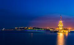Maiden's Tower, Istanbul, Turkey (Sean X. Liu) Tags: madenstower istanbul turkey nightphotography twilight travel sea landscape longexposure lowlight