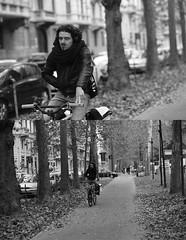 [La Mia Citt][Pedala] (Urca) Tags: portrait blackandwhite bw bike bicycle italia milano bn ciclista 707 biancoenero mir bicicletta 2014 pedalare dittico nikondigitale ritrattostradale