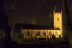 Eyam Church by Night (George W Dawn) Tags: church parish district derbyshire peak churchyard eyam