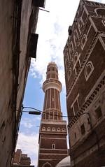 Sana, Yemen (Rod Waddington) Tags: street house minaret islam traditional mosque arabic east arab yemen middle islamic yemeni sana