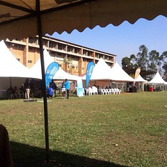 Our partners setting up #5asideUG