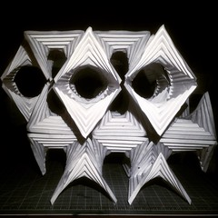(mike.tanis) Tags: art geometric architecture paper paperart design 3d origami geometry surface folding papercraft maquette geometricart geometricdesign
