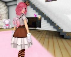 2015 Coordinate 86 (littlerowan) Tags: lolita gloves secondlife tophat backpack blah egl angelica pinkhair stripedsocks magika sweetlolita sugarheart honeykitty katat0nik