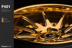 f421-gold-bullion (AG Wheels) Tags: black wheel gold hardware paint flat painted spoke wheels profile deep finish ten lip gloss form reverse custom rim rims avant garde forged concave finishing bullion bespoke directional rotational f421 agwheels agform forginge