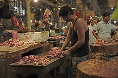Meat Market (sparksy2k14) Tags: india chicken canon eos blood market delhi meat 5d