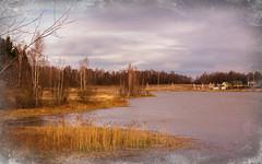 Retro-Autumn (Alexander St.) Tags: autumn lake water clouds gold cross cloudy russia retro ru  volokolamsk    autumngold   sichevo