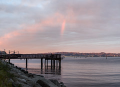 first captured rainbow... sort of (pbo31) Tags: sanfrancisco california winter sunset sky orange color silhouette northerncalifornia march pier rainbow fishing nikon bayarea missionbay d800 2015 boury pbo31
