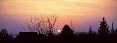 Sunrise (Luca Rohmann) Tags: sunset sun nature sunshine sunrise canon 50mm frankfurt sunny f18 mainz wideopen flörsheim
