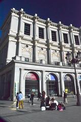 Outside Madrid opera house (grannie annie taggs) Tags: madrid white building sunshine fun operahouse