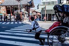 _DSF9165-2 (mrpan_bkk) Tags: life travel portrait man japan temple sensoji photography japanese women fuji view sightseeing working sunny enjoy asakusa rickshaw steet 14r xe2 xmount xf23