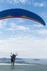 Panorama (dperpetuo) Tags: brazil brasil riodejaneiro canon landscape rj paraglider niteri parquedacidade baiadeguanabara voolivre