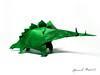 Stegosaurus, Fumiaki Kawahata (Yarik__) Tags: paper origami dino dinosaur stegosaurus kawahata fumiaki