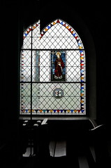 seeing double (overthemoon) Tags: windows schweiz switzerland suisse stainedglass vitrail fribourg svizzera pews vitraux romont romandie collegiatechurch collgiale