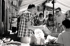 . (Alubhai) Tags: blackandwhite bw france monochrome digital grenoble 50mm market streetphotography canonef50mmf18 sundaymarket rhônealpes canoneos60d alubhai 75mmequivalent