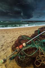 Praia da Aguda (paulosilva3) Tags: sea lighthouse seascape storm praia canon landscape boats eos sand lee da filters waterscape 6d aguda polariser