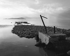 Lake Debris (agianelo) Tags: white lake black landscape pier great salt