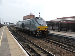 Class 68 at Birmingham Moor St (metrogogo) Tags: watertower transport traintravel trainjourneys railtravel 68014 class68