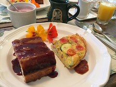 Breakfast! (tiny red warrior) Tags: california breakfast yum bedandbreakfast cambria olallieberryinn