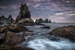 Playa de Portio (cfaobam) Tags: travel light sea nature water rock stone landscape photography spain meer wasser europa europe long exposure outdoor magic insel steine national fujifilm ufer landschaft stein geographic spanien kste eiland felsen langzeitbelichtung ozean liencres felsformation cfaobam cfaobamhome eilndchen