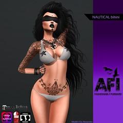 AFI Designs ~ NAUTICAL BIKINI AD (ladjgirl) Tags: stars grey omega sl bikini secondlife nautical belleza maitreya slink