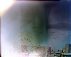 Coney Island (Dear Deer Fine Art) Tags: color film analog experiment 4x5 largeformat c41