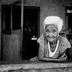 Philippines  Wilfredo Raguro (wilfredoraguro.com) Tags: grandma blackandwhite 120 6x6 film mediumformat grandmother philippines streetportrait 120film elderly filipino oldwoman mamiya6 granny wrinkles whitehair