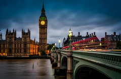 Nearly bed time! (RickybanPhotography) Tags: city motion london clock thames parliament bigben