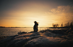 Watching (AlexanderHorn) Tags: ocean sea sun sunlight seascape beautiful finland skyscape landscape warm wide tokina vaasa sterbotten