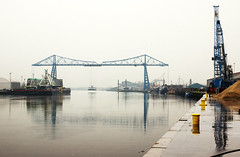 Middlesbrough Transporter Bridge (Kingmoor Klickr) Tags: bridge industry river dock crane middlesbrough transporter tees teeside