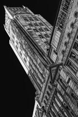 Torre Alcal (chuscordeiro) Tags: madrid street espaa building blancoynegro canon blackwhite torre edificio centro ciudad contraste turismo marzo 1022 alcala callejear 550d