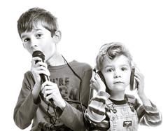 High Key Off Key (kate.millerwilson) Tags: boy portrait people blackandwhite monochrome kids children brothers sing headphones microphone highkey strobe homestudio alienbees offcameraflash nikond7100