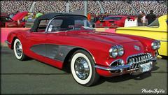 '59 Corvette (Photos By Vic) Tags: old red classic chevrolet car vintage automobile antique convertible chevy vehicle corvette carshow vette 59 1959 2015goodguyssoutheasternnationals