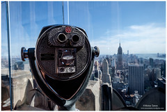 Top Of The Rock (Moyse911) Tags: park new york city urban rescue usa newyork building love rock brooklyn jaune square liberty fire amazing fuji state time top manhattan taxi great central grand libert empire flatiron ville unis amricain xe1 amerique tats xt1 dowtone mildeltown