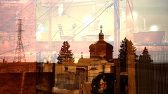 In the alley (djhsilver) Tags: street tower church car bay back alley exposure downtown cross fort doubleexposure telephone william double pole pylon east hydro alleyway dome end electricity layer vehicle parked onion van ukrainian orthodox simpson thunder fortwilliam thunderbay simpsonstreet