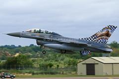 FB-18 F-16B-MLU Fighting Falcon - OCU - Kleine Brogel Air Base, Belgium (David Skeggs) Tags: aircraft military aeroplane f16 fairford riat royalinternationalairtattoo fightingfalcon belgiumaircomponent davidskeggs