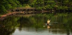 The Fisherman (wozniaka) Tags: travel bridge camping lake reflection nature japan landscape fishing natural scenic explore trail flyfishing nikko wilderness trout honshu