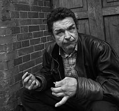 Pretty Vacant (bensonfive) Tags: london monochrome chinatown streetphotography ricohgr reallife blackwhitephotography hardtimes streetsoflondon