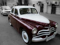 "ГАЗ М-20 ""Победа"" / Retro car ""GAZ-M20 Pobeda"" (Abs0lute2010) Tags: auto automobile gaz m20 pavement pobeda retro retromobiles russia ussr victory vinous white"
