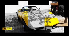 - Corvette - (Jac Hardyy) Tags: auto old white 3 black eye classic cars chevrolet sports beautiful car yellow collage stingray antique c convertible exotic gelb chevy 1975 oldtimer autos catcher corvette cabrio luxury luxus sportscar eyecatcher cabriolet c3 sportwagen blickfang
