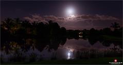 Florida Life: Strawberry Moon (Thncher Photography) Tags: longexposure nightphotography landscape shadows florida sony scenic stuart fullframe fx waterscape martincounty strawberrymoon palmcity noctography zeissfe1635mmf4zaoss a7r2 ilce7rm2 sonya7r2 silouhettestropical