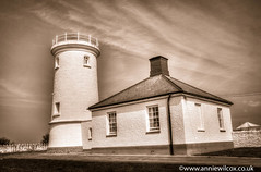 Nash Point Lighthouse (anniew69) Tags: sky blackandwhite bw cloud lighthouse building nature ecology monochrome sepia wales clouds blackwhite scenery europe skies unitedkingdom may gower environmentalism grade2 valeofglamorgan ecosystem sepiatoned edifice listedbuilding edifices 2016 nashpoint thegower marcross toload photographytechnique nashpointlighthouse monknashcoast anniewilcox wwwanniewilcoxcouk anniew69