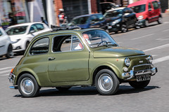 Fiat 500 (xwattez) Tags: fiat 500 voiture automobile italienne ancienne old italian car vhicule transports rue street toulouse france 2016